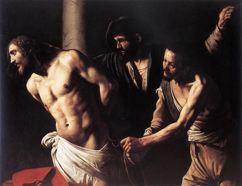 The Flagellation of Christ by Caravaggio (circa. 1607).