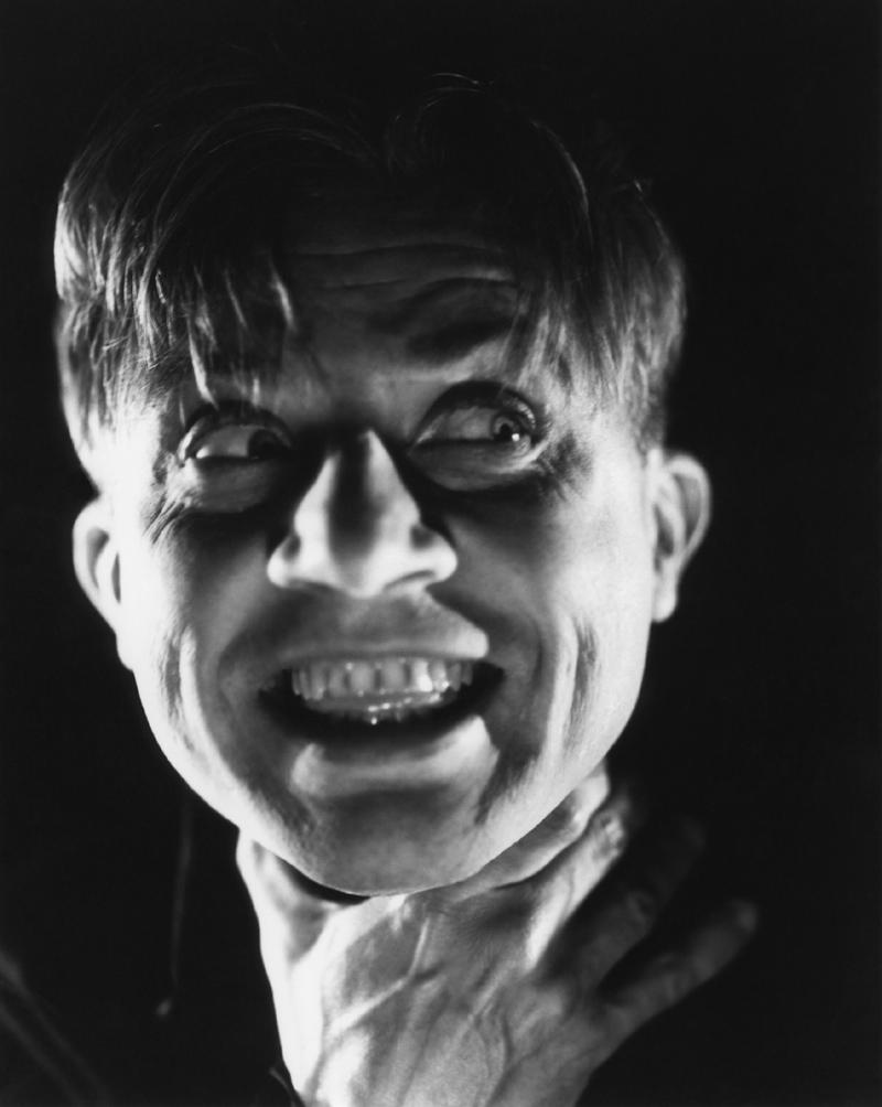 """Dwight Frye in """"The Bride of Frankenstein"""" by John J. Mescall (1935)."""