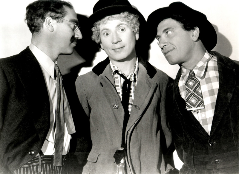 "The Marx Brothers in ""A Night at the Opera"" by Merritt B. Gerstad (1935)."