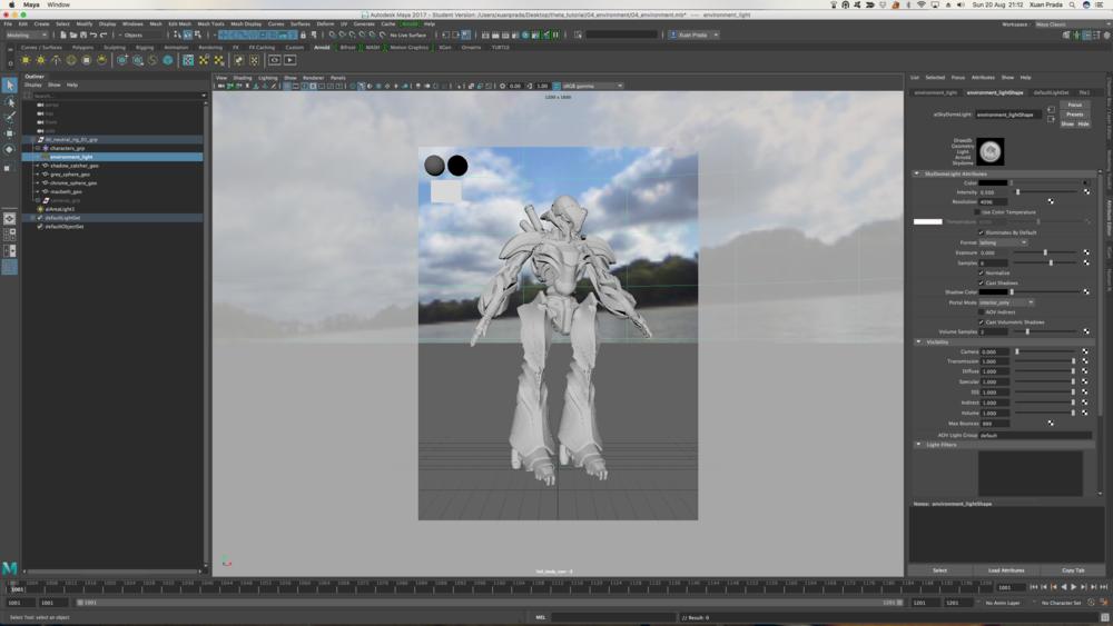 Captura de pantalla de Maya.