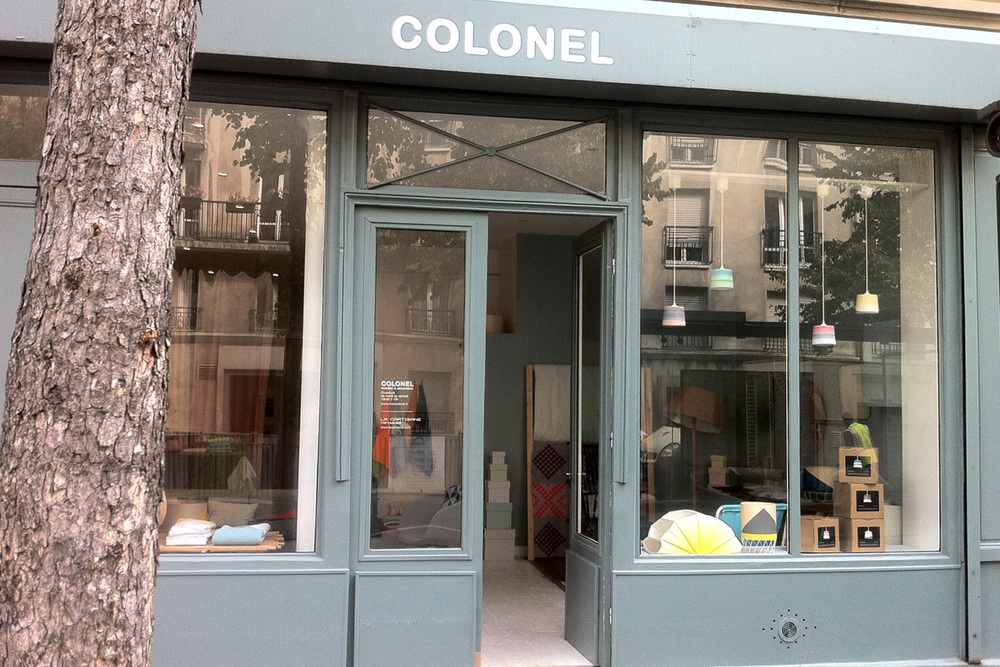 COLONEL 14 Avenue Richerand, 7510 Paris - France Tuesday to Saturday - 10.30 am > 7.00 pm T: +33 1 83 89 69 22 W: www.moncolonel.fr