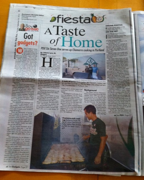 September - PDX671 is featured in A Taste of Home: PDX Six Seven One serves up Chamorro cooking in Portland by Valerie Lynn M. Maigue for Guam's Pacific Daily News.