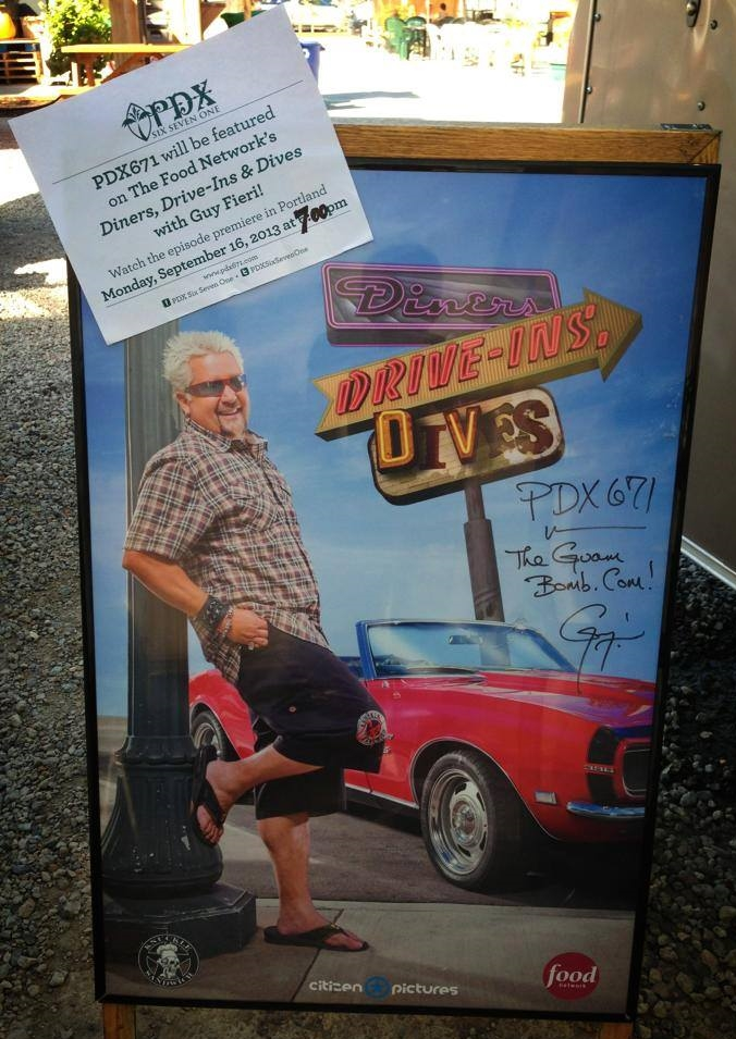 "September - PDX671 is featured on The Food Network's Diners, Drive-Ins and Dives with Guy Fieri (Season 18, Episode 4 ""Cannoli, Fritters and Wings"")"