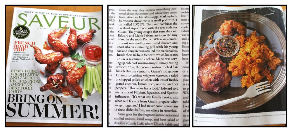 June - PDX671 is featured in Saveur Magazine's Food of the People: Portland's Food Cart Revolution by Dana Bowen