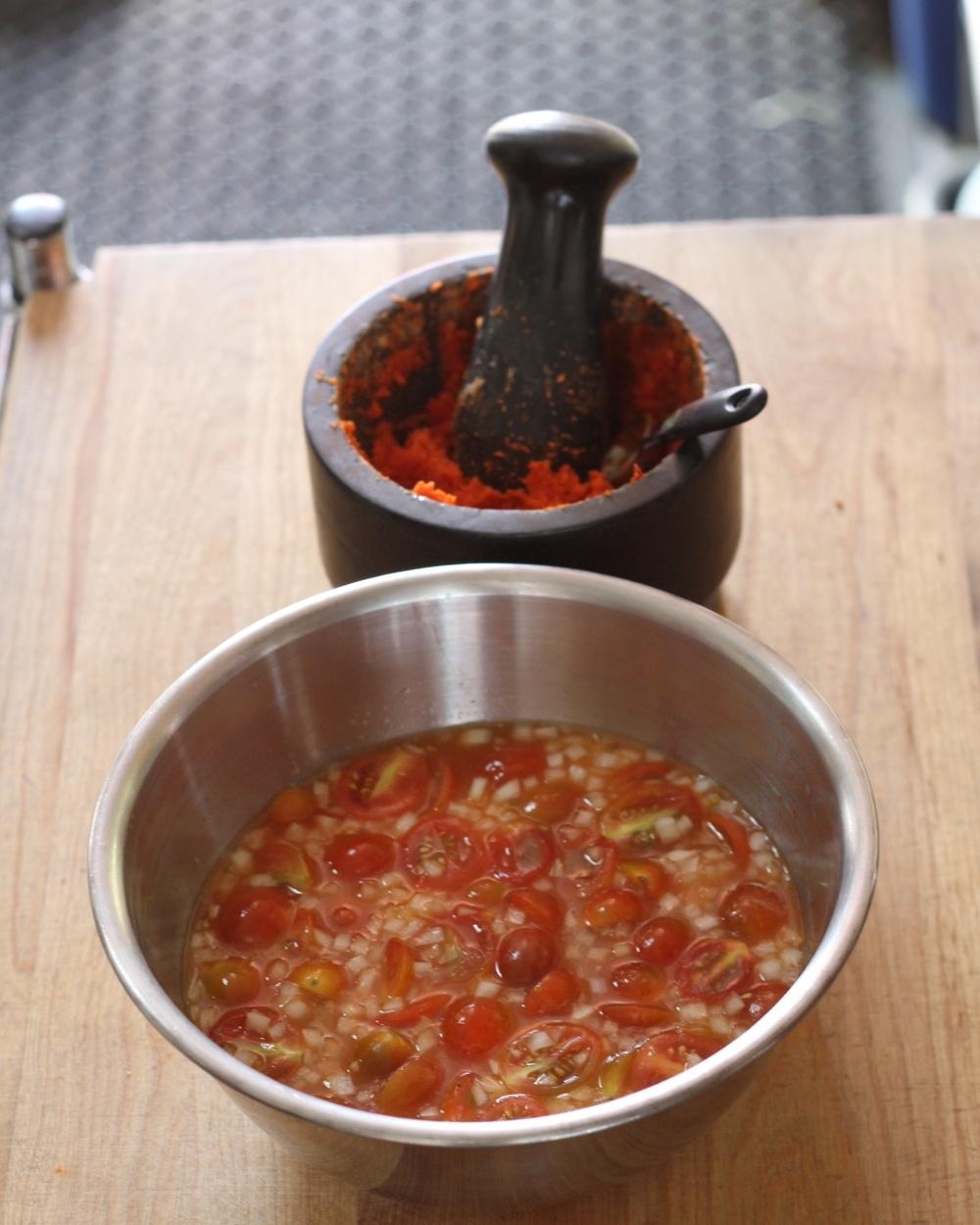 Sauce for the kelaguen guihan