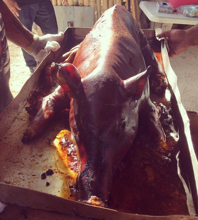 Hotnon Babui (roasted pig)