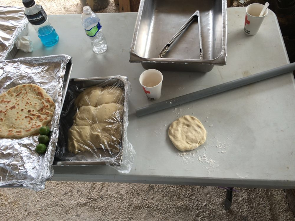 Making  Titiyas (flatbread)