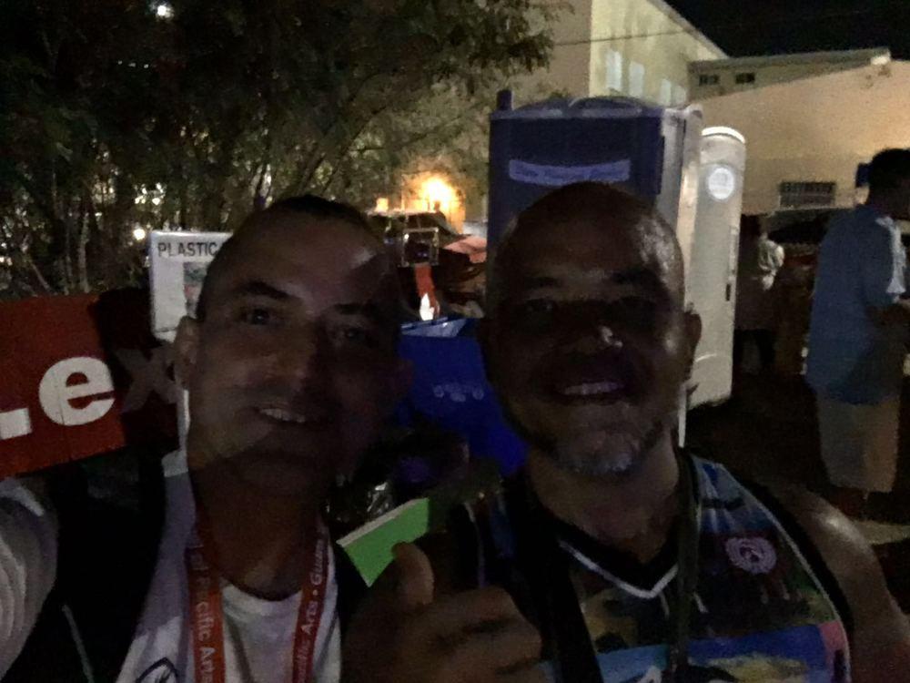 Ed with Roman Dela Cruz