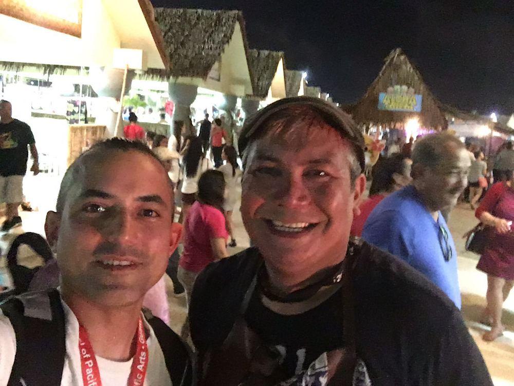 Ed with Joey Leon Guerrero