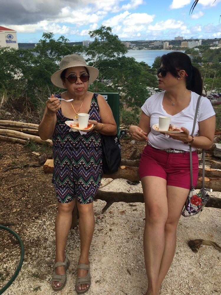 Hafa Adai! Millionita Dizon and Nona Perez