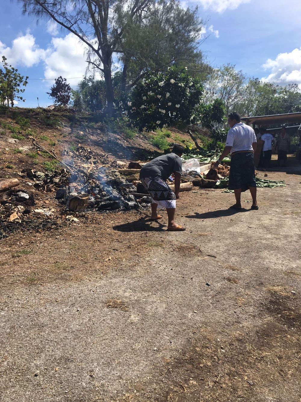 Cook Islands earth oven