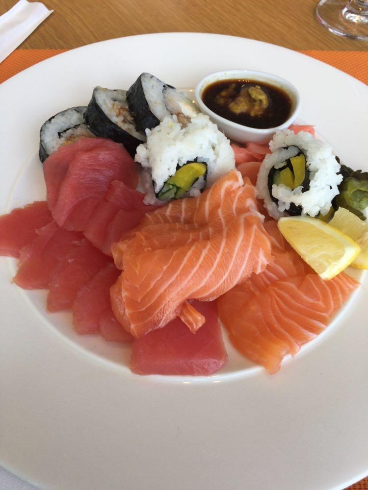 All I can eat sashimi at Dusit Thani!!