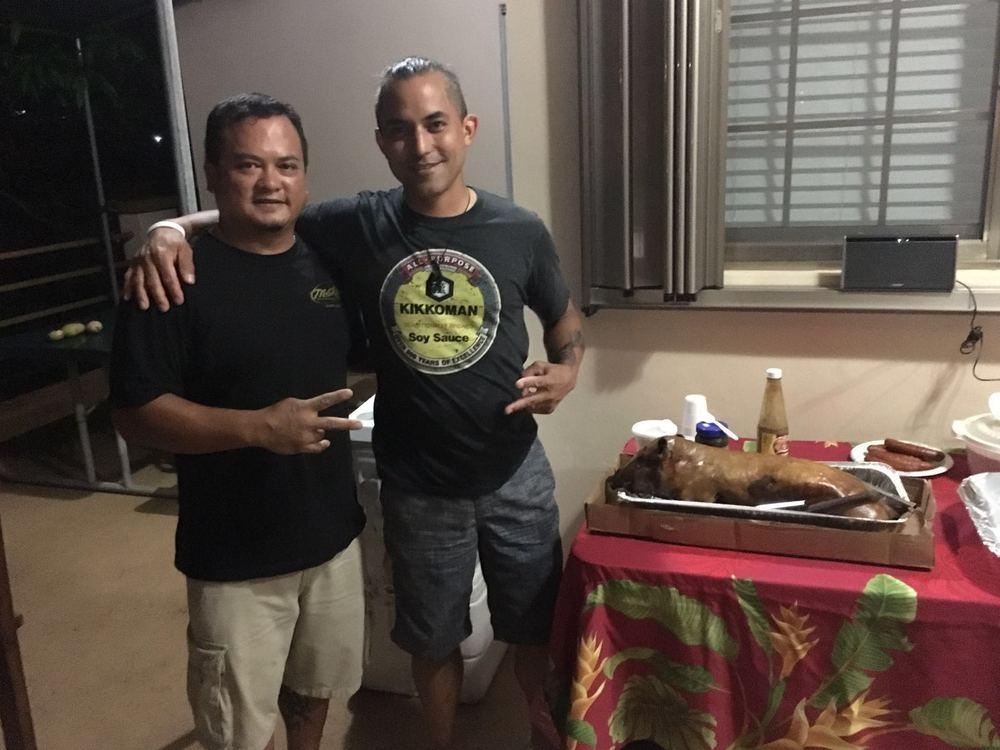 Peter Dueñas with Ed Sablan