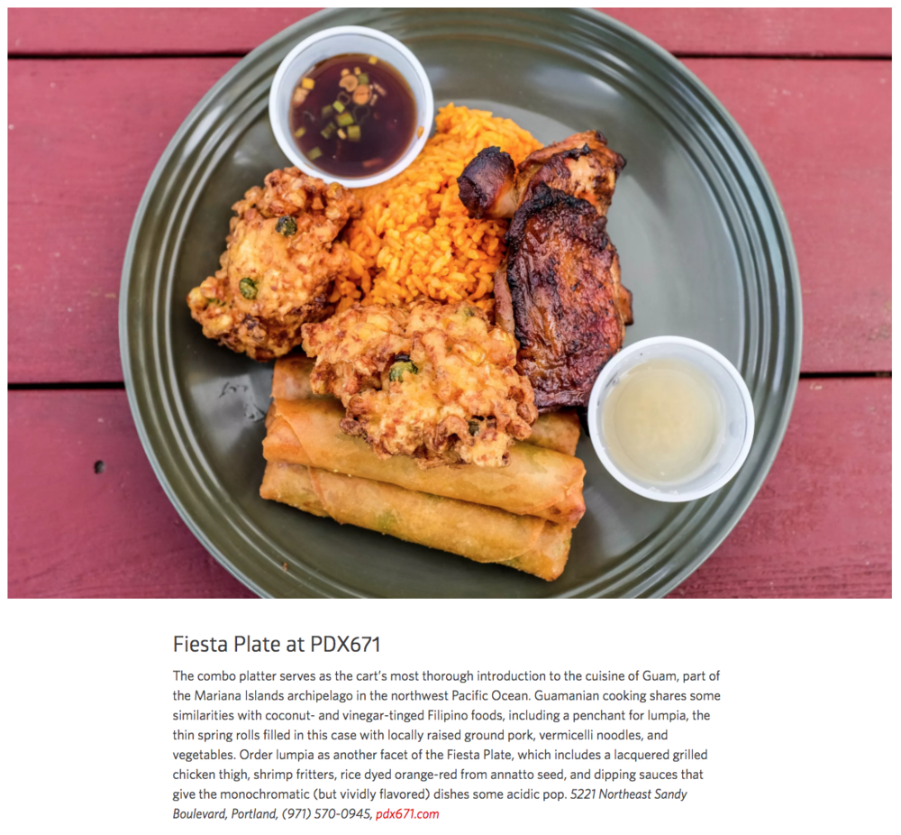 December - PDX671 is featured in EaterPDX's web featurette Portland's Global Feast in Twelve Stunning Dishes
