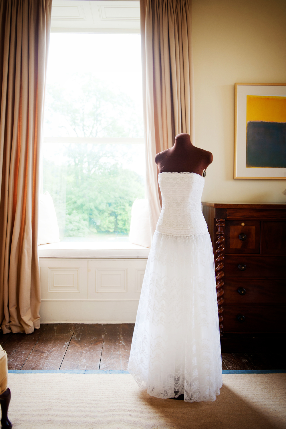 Vintage dress from Bella Bleu, Cork. Top / corset was crafted by Nell McCarthy, Cormac's grandmother. - Photography: Weddings by KARA   © - Wedding Location: Kilshane House, Tipperary, Ireland