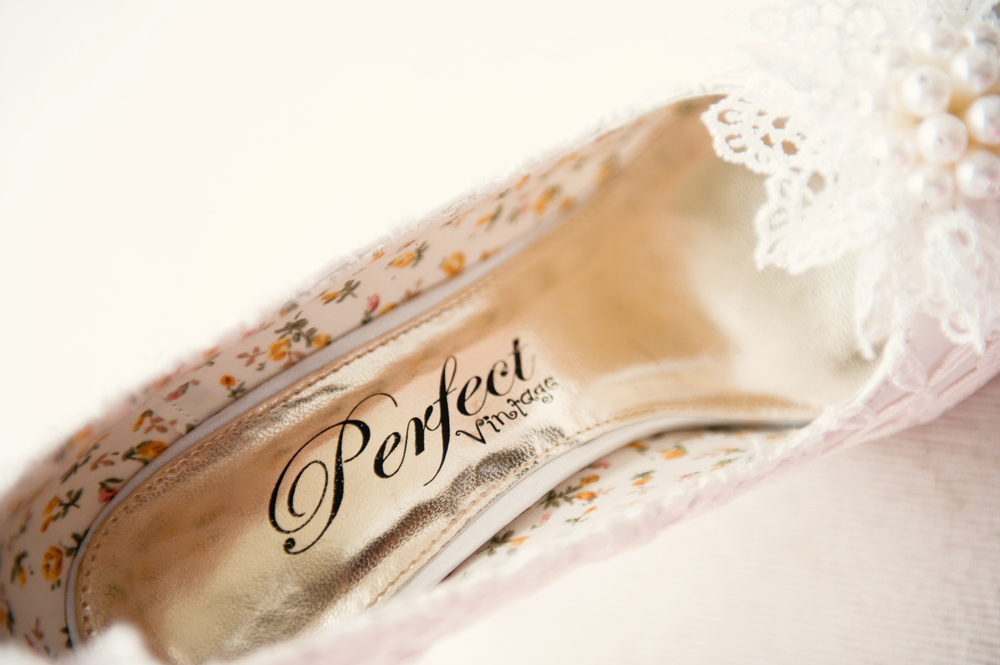 Shoes by Perfect Vintage - bought in Ivory Rose wedding boutique, Co. Cork - Photography: Weddings by KARA   © - Wedding Location: Kilshane House, Tipperary, Ireland