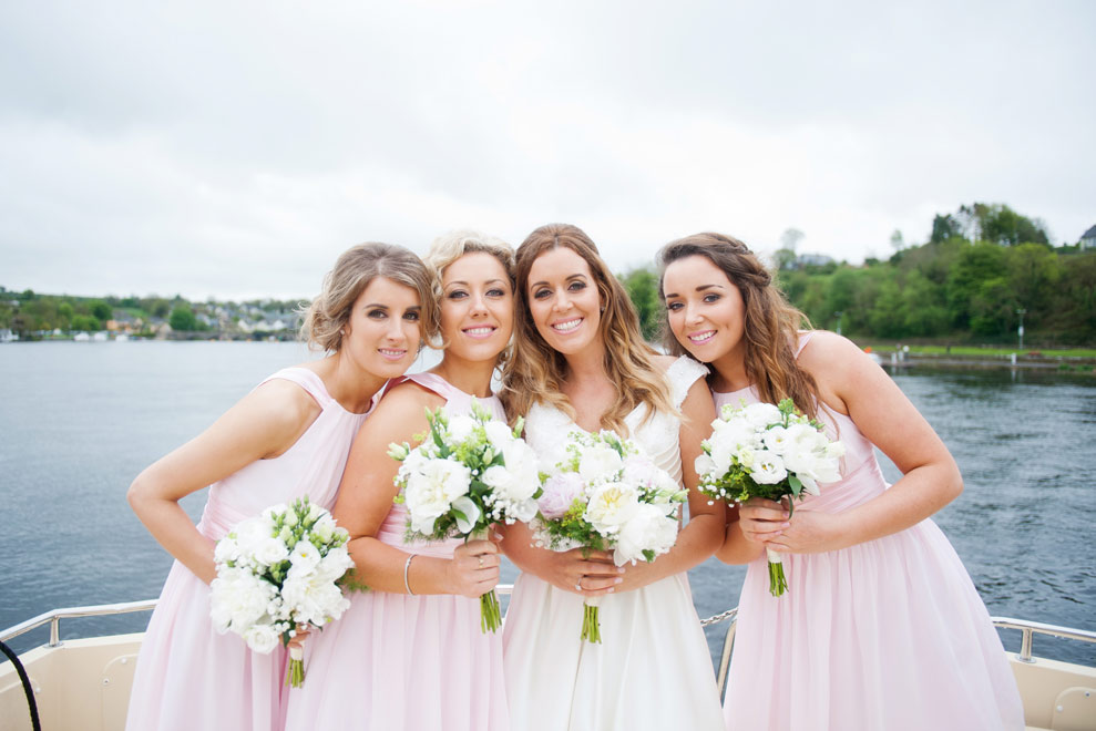 """Mary, Yvonne & Jackie wore a gorgeous vibrant girlie short pink dress which I sourced in the States. The style was so summery and flowy... absolutely gorgeous in our pics!"""