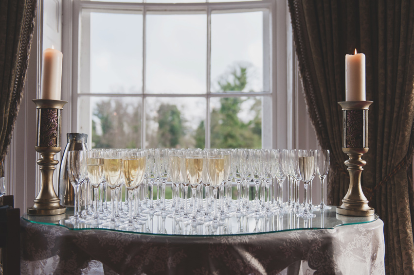 Champagne reception at Bellingham Castle Hotel Louth