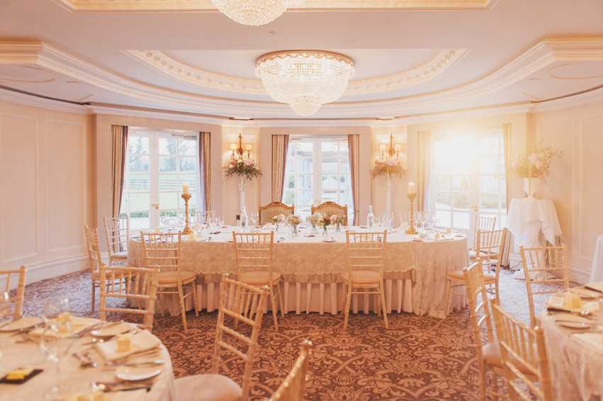Top Table Bellingham Castle Hotel Wedding