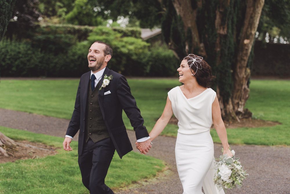 Bride and groom in Tankardstown House Gardens Co Meath Wedding photography meath ireland