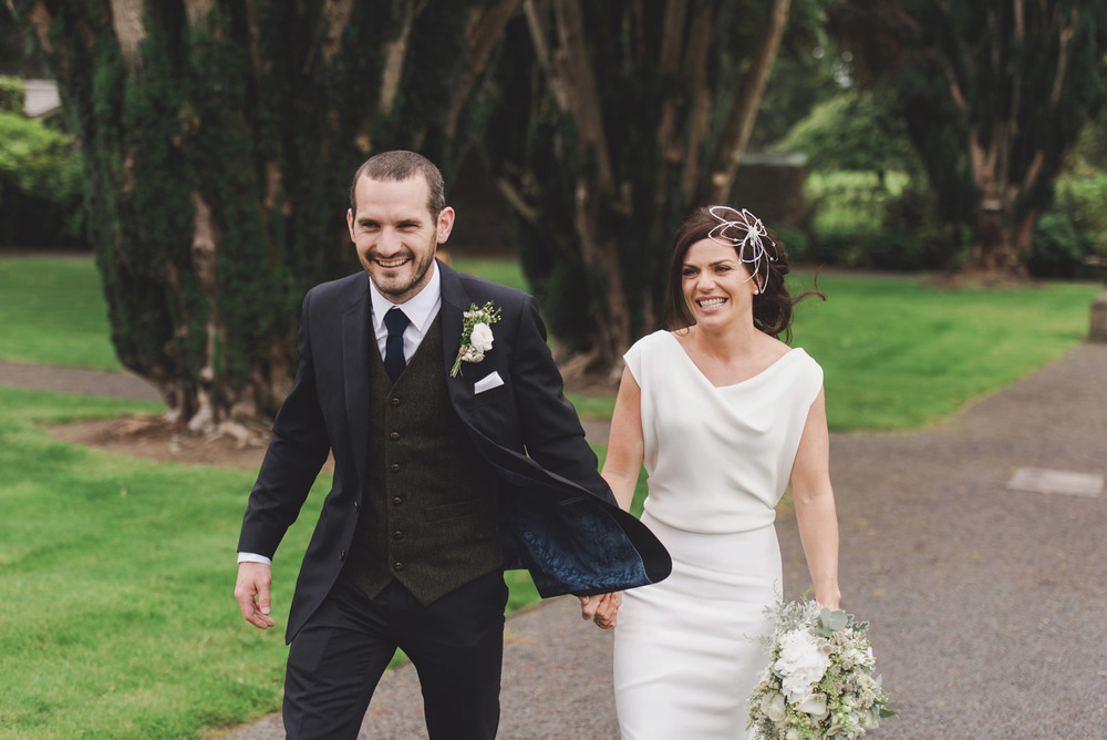 Bride and groom in Tankardstown House Meath Wedding photographers meath ireland