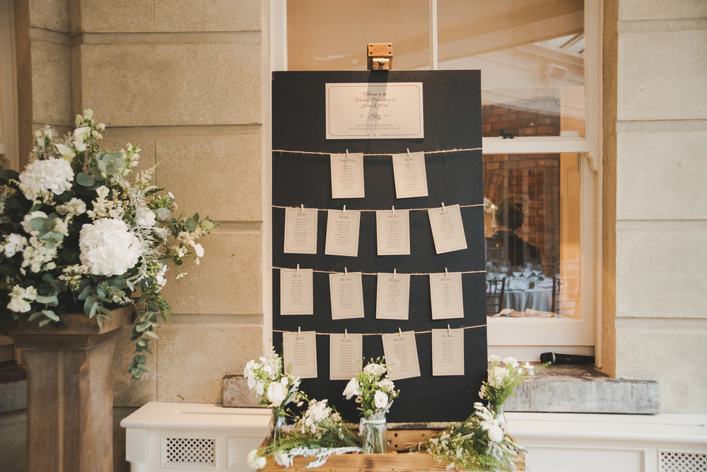 Table Plan Tankardstown House Meath Wedding photographers meath ireland