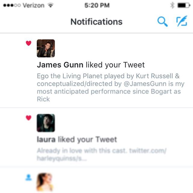 Dreams do come true. Thanks @jamesgunn