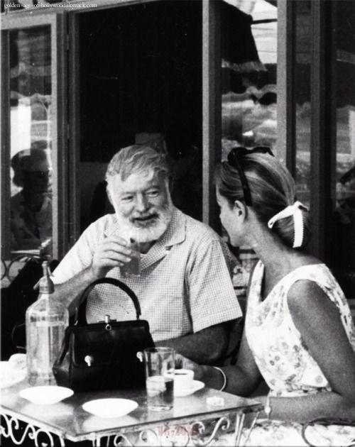 Ernest Hemingway and Lauren Bacall, Spain 1950's