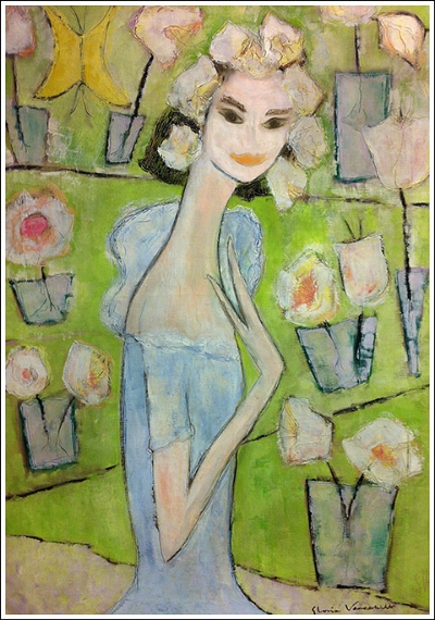 Painting by Gloria Vanderbilt