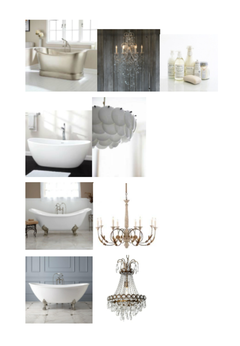 Larimore Nickel Slipper Tub, Mirabelle Chandelier, Bar Co. Products, Lacota Resin Freestanding Tub, Pembridge Bone China Pendant Lamp, Bellbrook Cast Iron Clawfoot Slpper Tub, Aidan Gray Chandelier, Winnsboro Acrylic Clawfoot Tub, Canopy Designs Swedish Chandelier