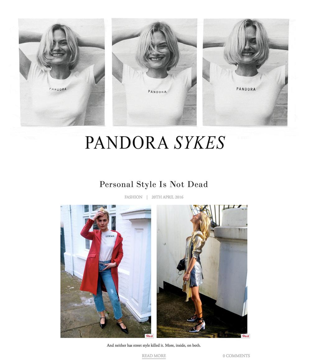 Pandora Sykes - Sunday Times Style Editor