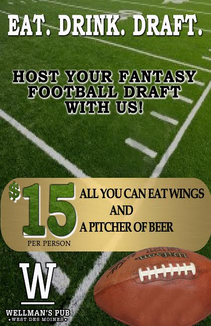 Wellmans Pub and Rooftop Fantasy Football Draft