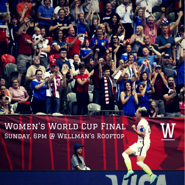 Watch the Women's World Cup at Wellman's Pub & Rooftop