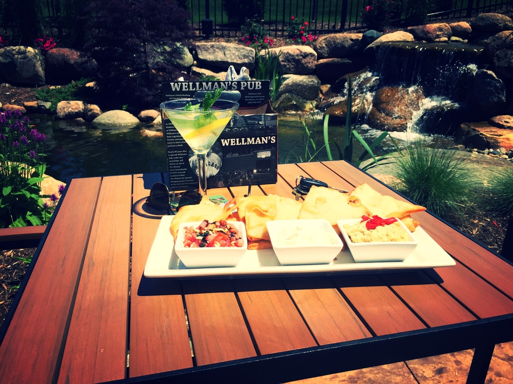 Flatbread Flight and martini Women WW Patio.jpg