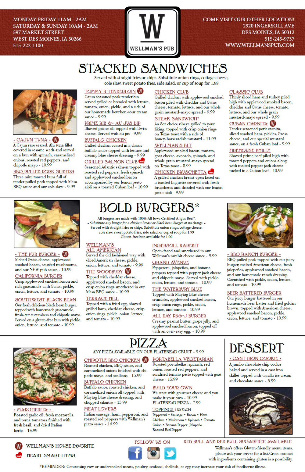 Wellmans Pub & Rooftop New Menu Page 2