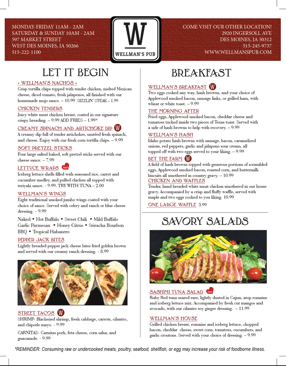 Wellman's Pub and Rooftop Brunch Spring 2019 West Des Moines.png