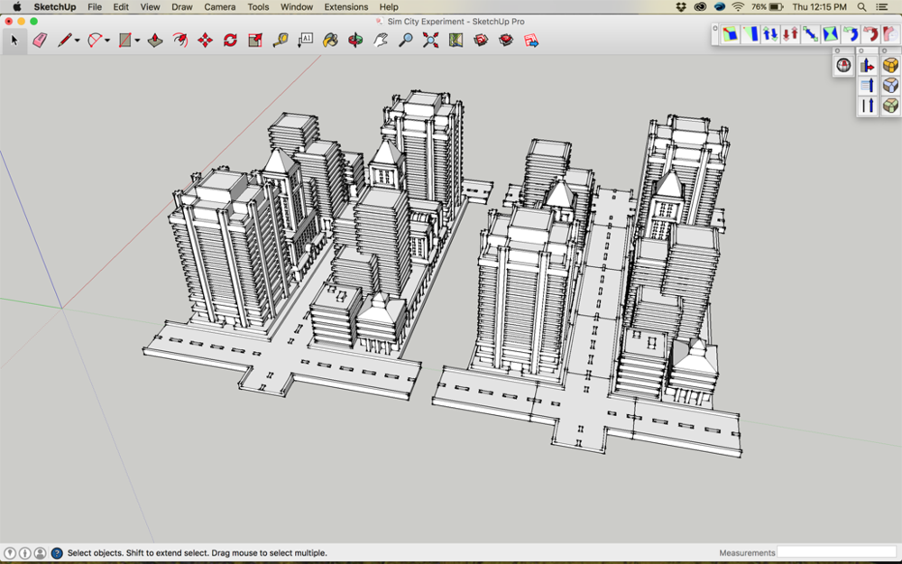Sim City 2000 Buildings In Sketchup