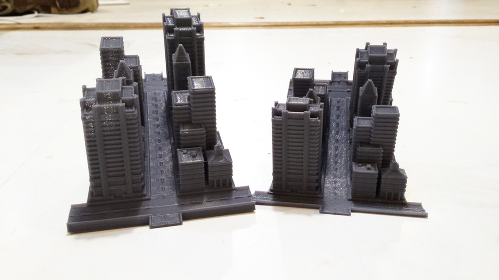 3D Printed Sim City 2000 Forced Perspective Test
