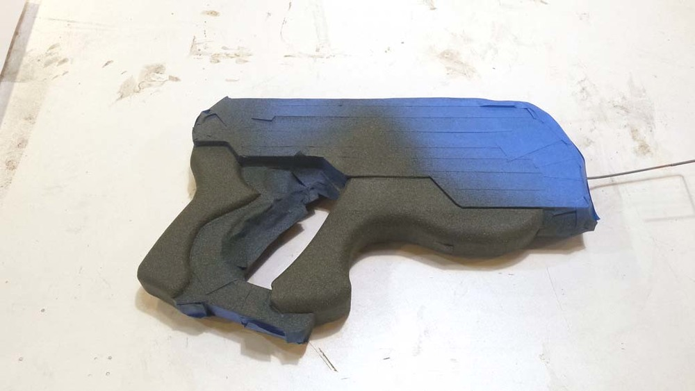 Textured areas of the mass effect prop pistol