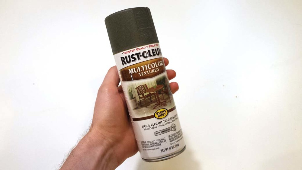 Rust Oleum Textured Paint for creating no slip grip surfaces on the cosplay prop
