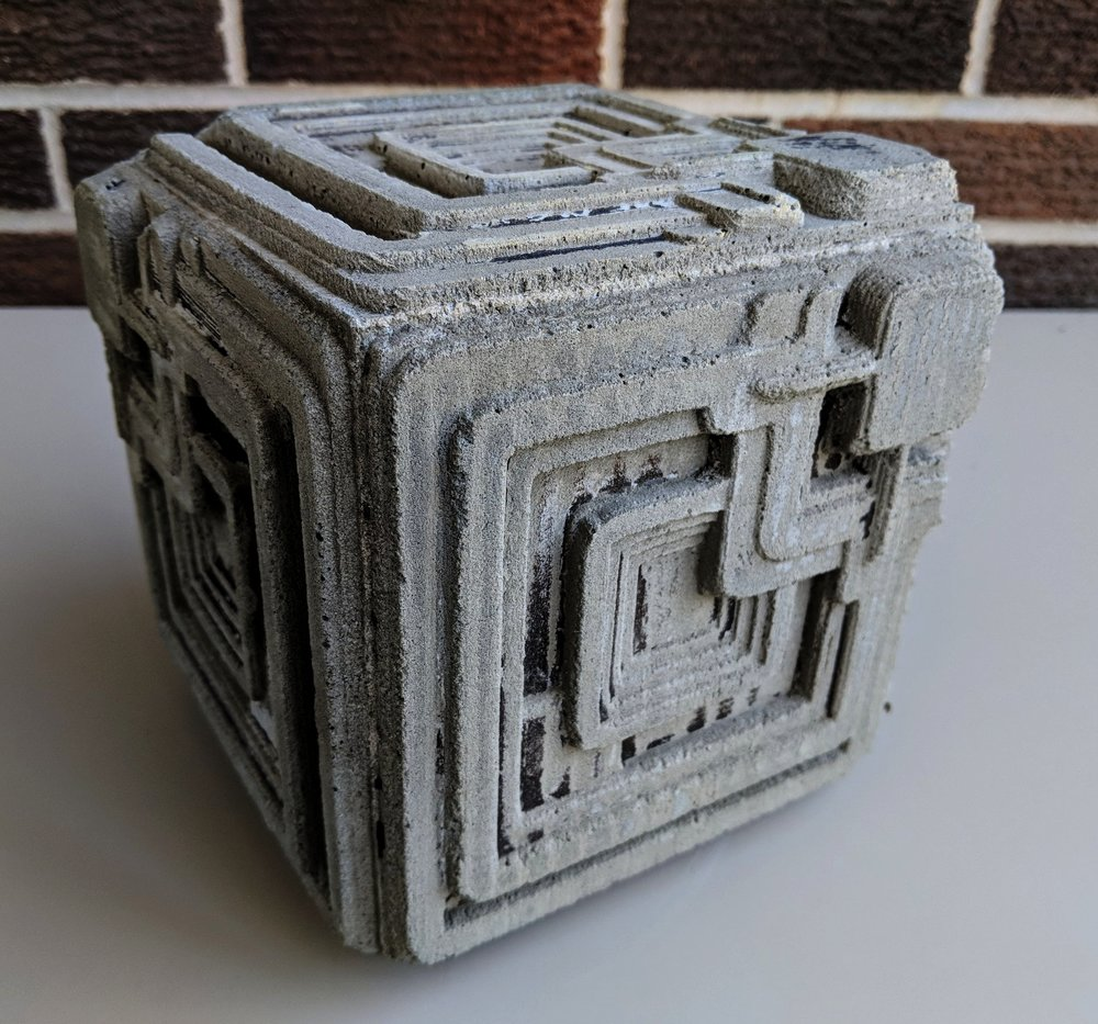The Finished Ennis House Blade Runner Block. Created from a Mold CNC Cut on my Shopbot and Designed in Fusion 360