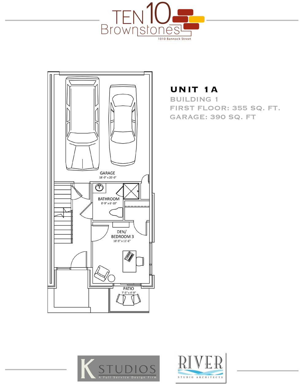Click to view & download Unit 1A floor plan