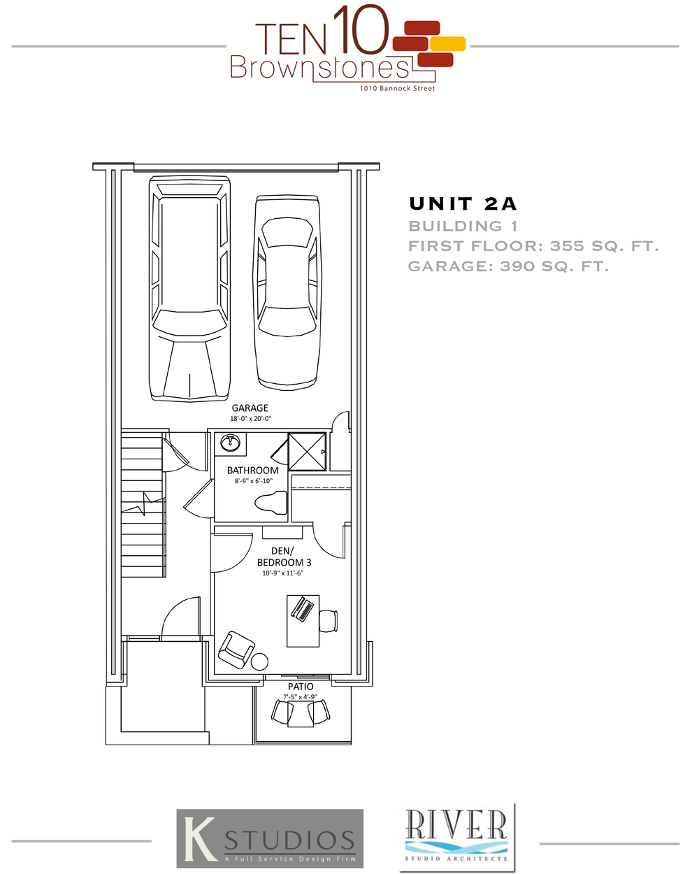 Click to view & download Unit 2Afloor plan