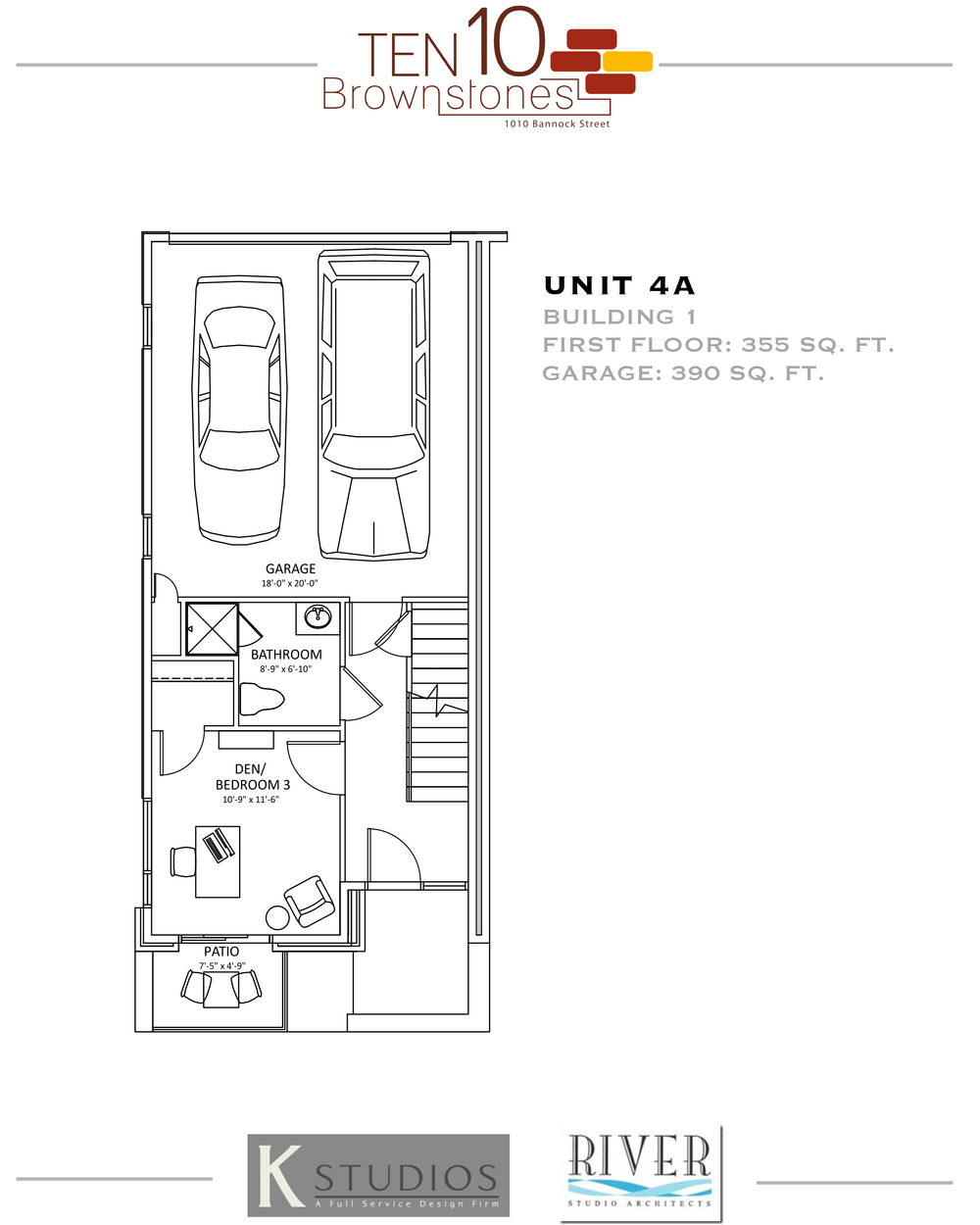 Click image to view & download Unit 4A floor plan