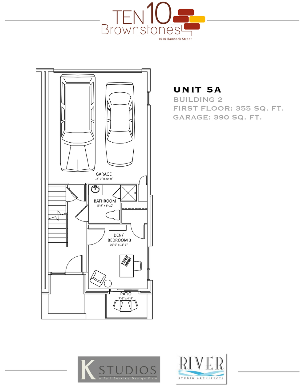 Click image to view & download Unit 5A floor plan
