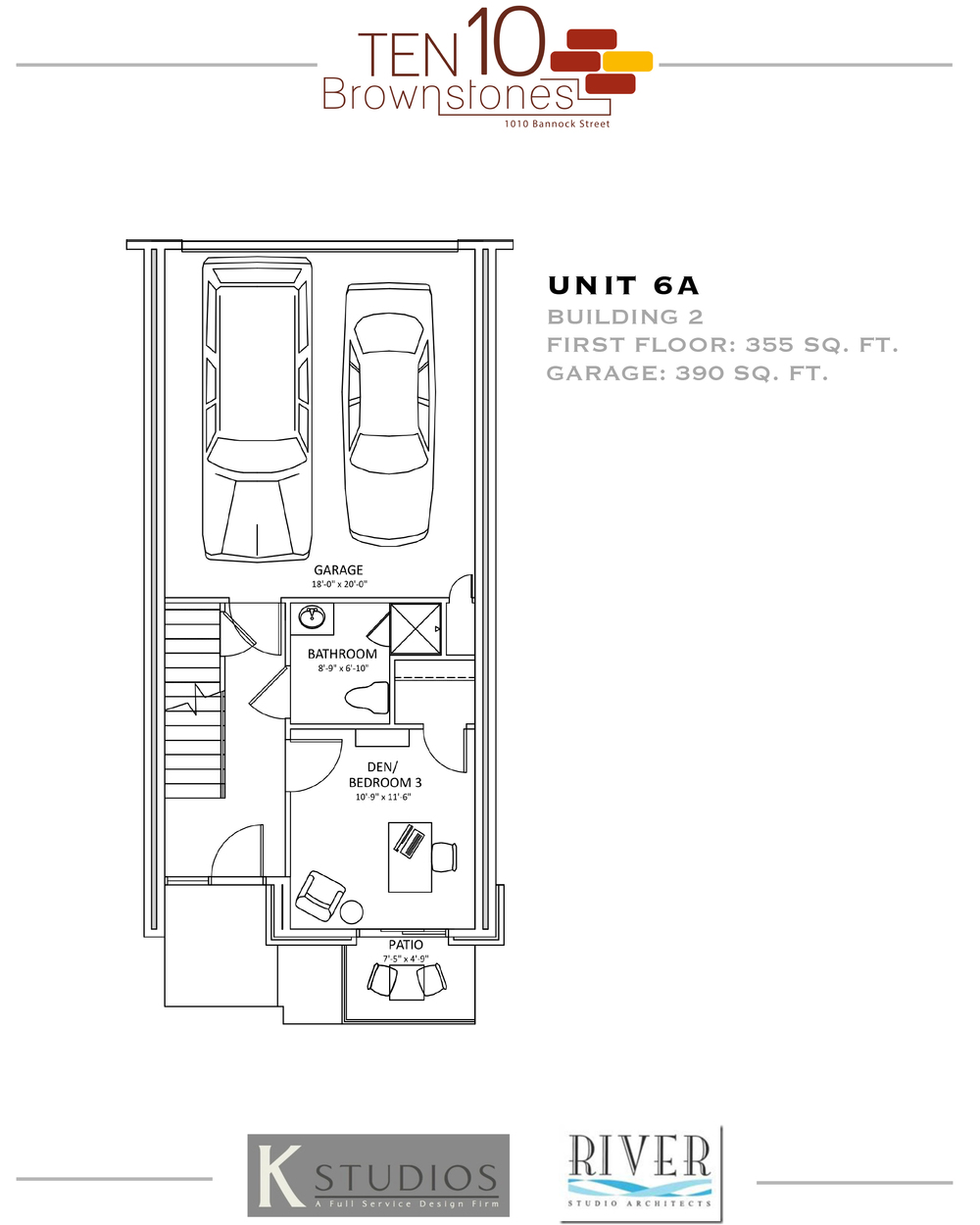 Click image to view & download Unit 6A floor plan