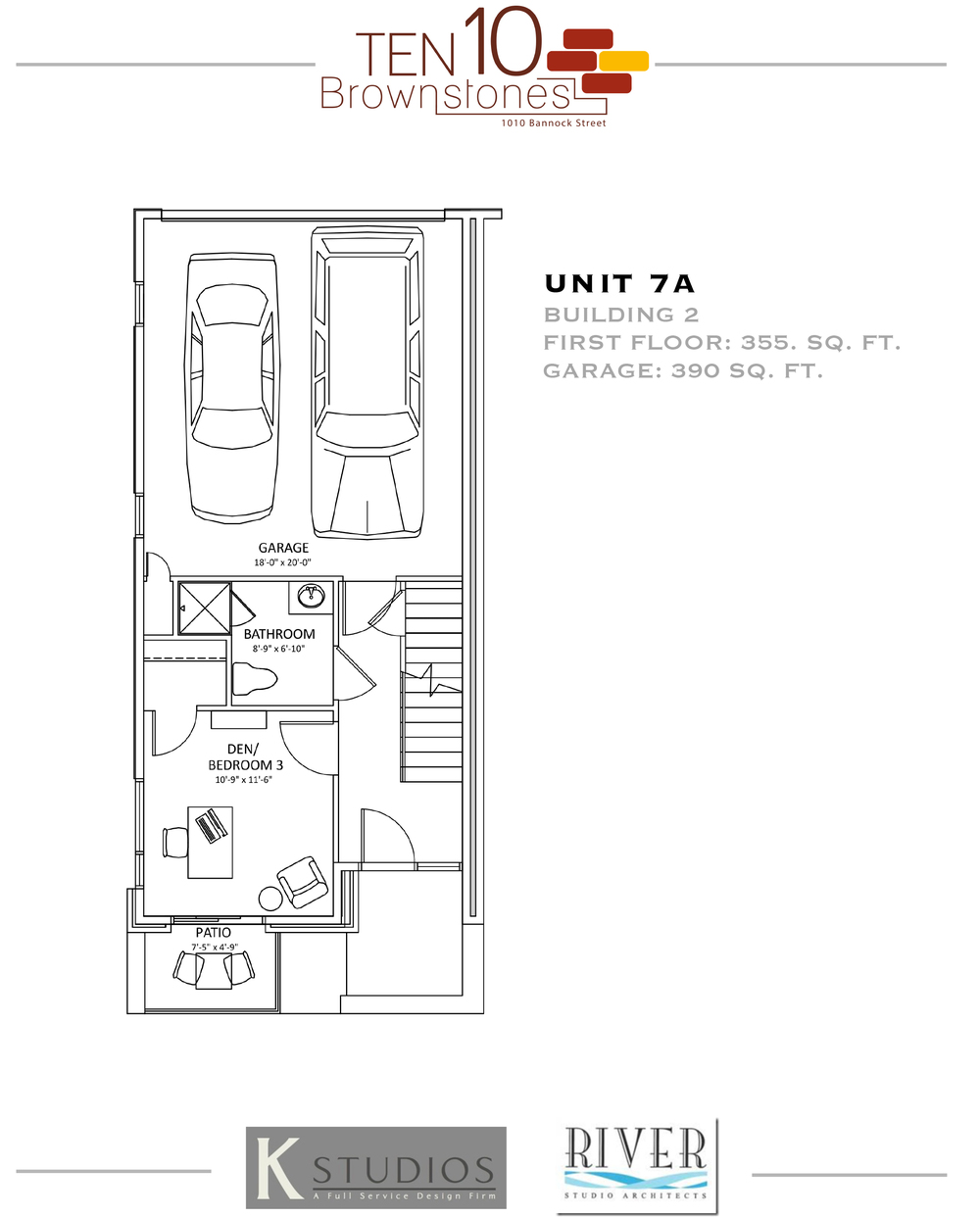 Click image to view & download Unit 7A floor plan