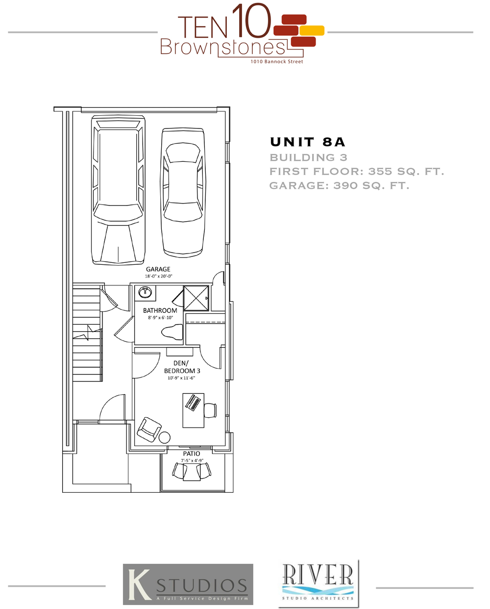 Click image to view & download Unit 8A floor plan