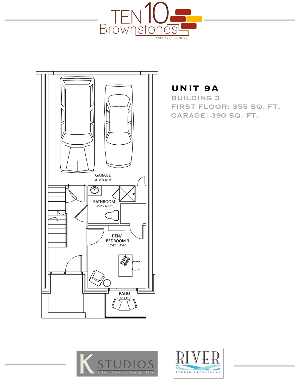 Click image to view & download Unit 9A floor plan