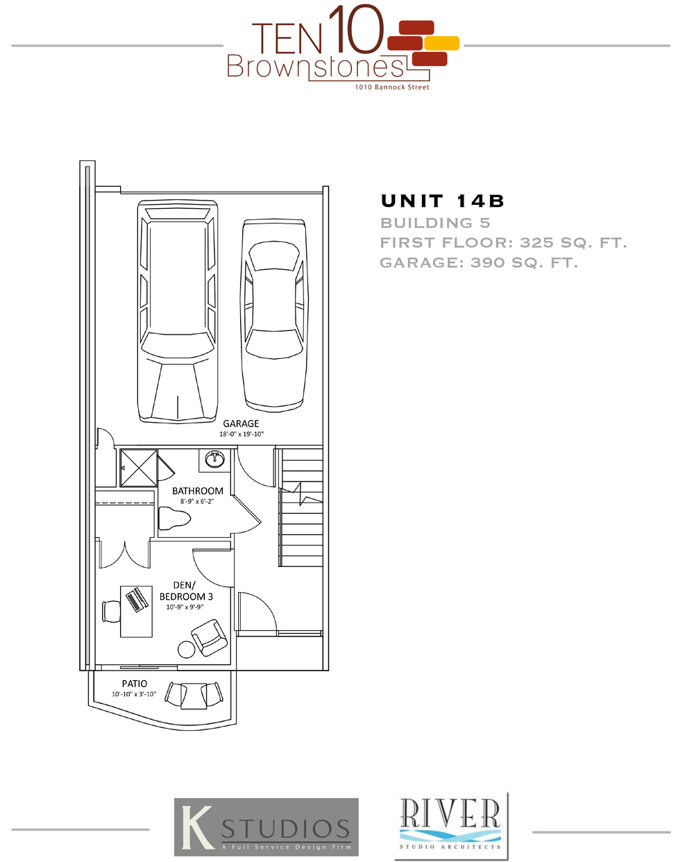 Click image to view & download Unit 14B floor plan